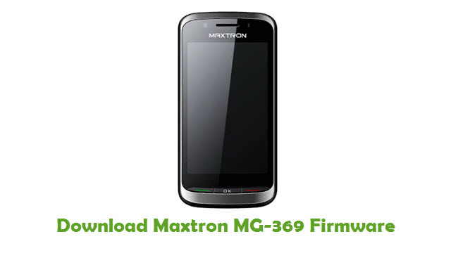 Download Maxtron MG-369 Firmware