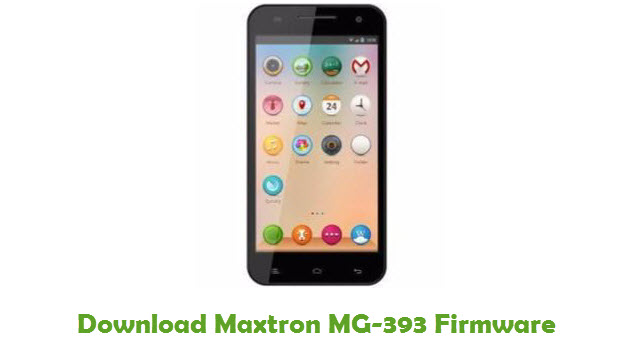 Download Maxtron MG-393 Firmware