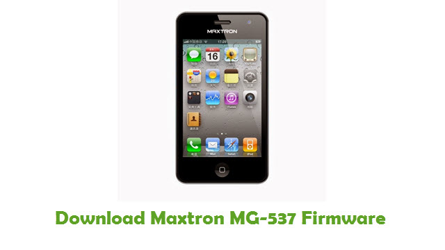 Download Maxtron MG-537 Firmware