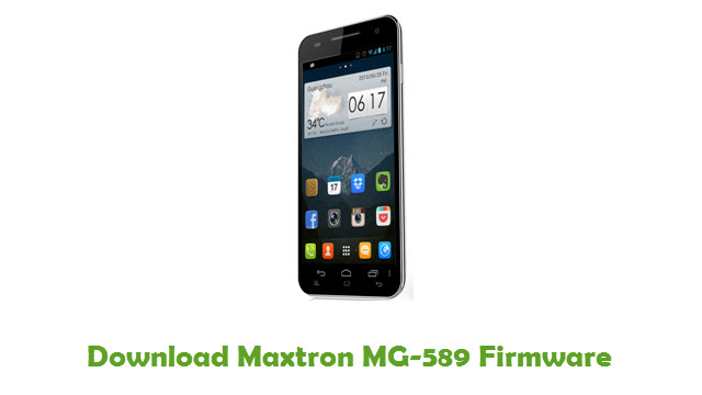 Download Maxtron MG-589 Firmware