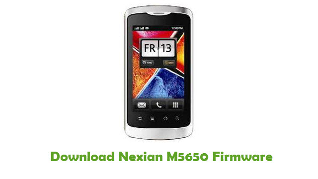Download Nexian M5650 Firmware