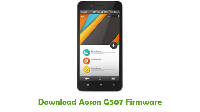 Download Aoson G507 Stock ROM