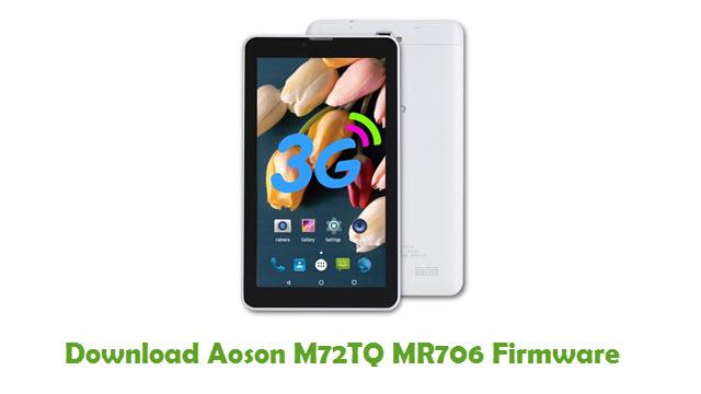 Download Aoson M72TQ MR706 Stock ROM