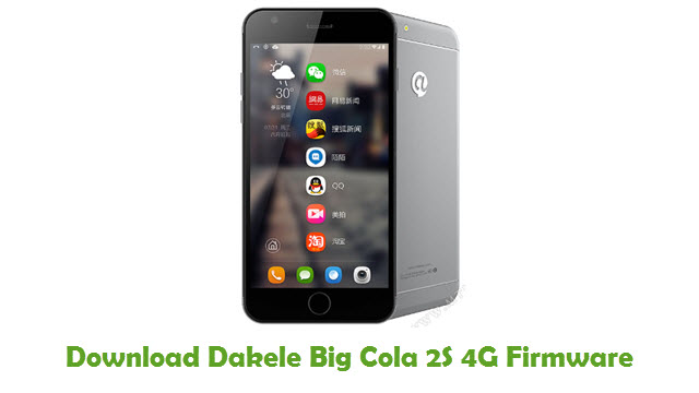 Download Dakele Big Cola 2S 4G Firmware
