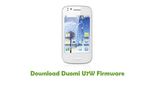 Download Duomi U7W Stock ROM