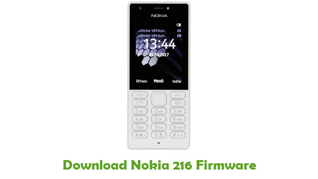 Nokia 216 Stock ROM