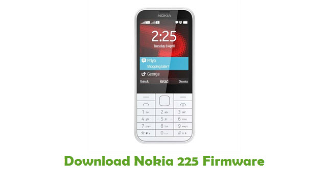 Nokia 225 Stock ROM