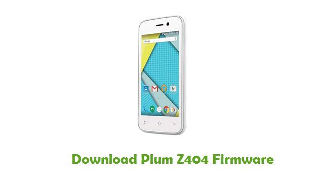 Plum Z404 Stock ROM