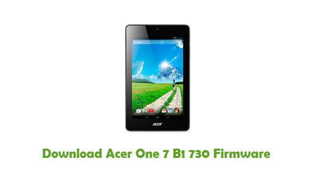 Download Acer One 7 B1 730 Firmware