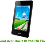 Acer One 7 B1 730 HD Firmware