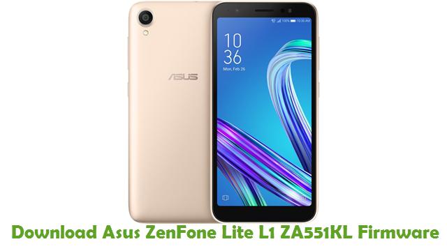 Asus ZenFone Lite L1 ZA551KL Stock ROM