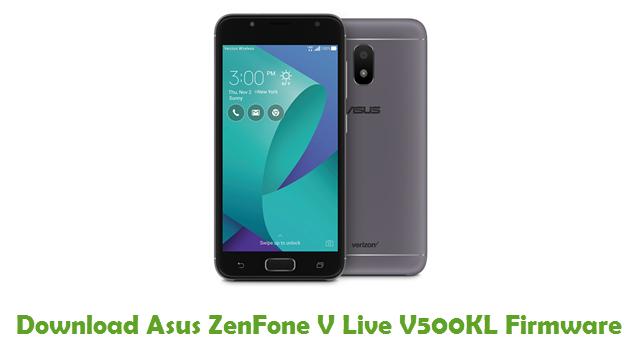 Asus ZenFone V Live V500KL Stock ROM
