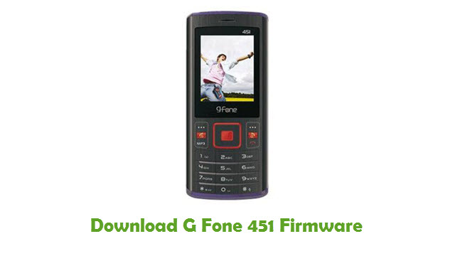Download G Fone 451 Stock ROM