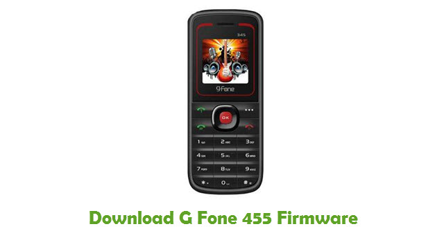 Download G Fone 455 Stock ROM