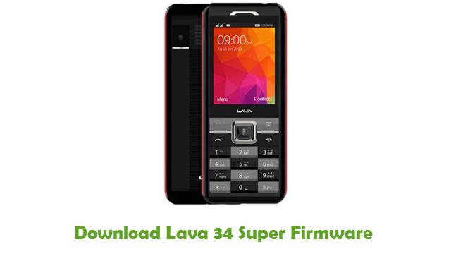 Lava 34 Super Stock ROM
