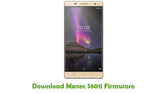 Download Mxnec S801i Stock ROM