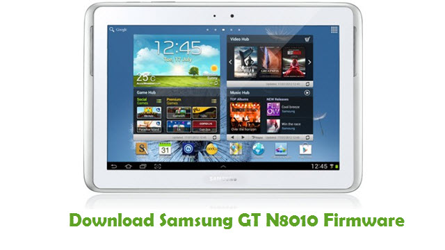 Download Samsung GT N8010 Stock ROM