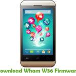 Wham W36 Firmware