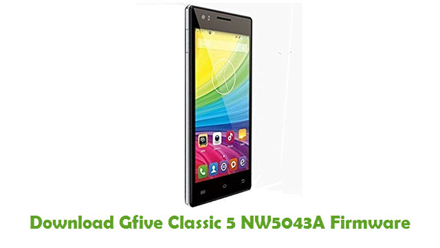 Download Gfive Classic 5 NW5043A Firmware