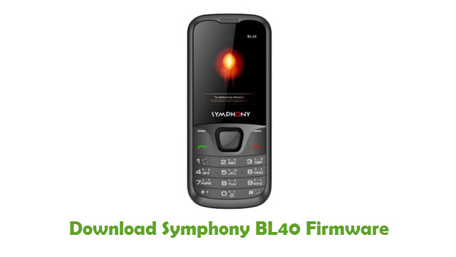 Download Symphony BL40 Stock ROM