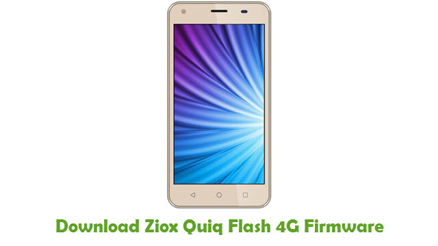 Download Ziox Quiq Flash 4G Firmware