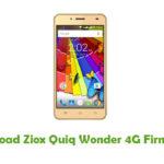 Ziox Quiq Wonder 4G Firmware