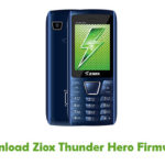 Ziox Thunder Hero Firmware