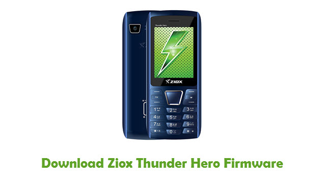 Download Ziox Thunder Hero Firmware