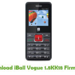 iBall Vogue 1.8KK18 Firmware
