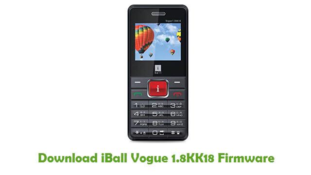 Download iBall Vogue 1.8KK18 Firmware