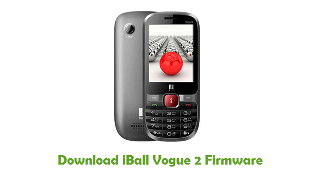 Download iBall Vogue 2 Firmware