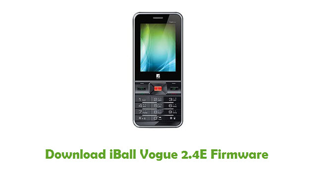 Download iBall Vogue 2.4E Firmware