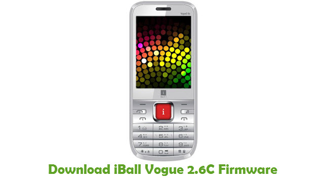 Download iBall Vogue 2.6C Firmware