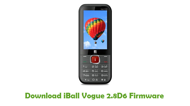 Download iBall Vogue 2.8D6 Firmware