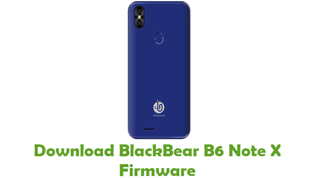 BlackBear B6 Note X Stock ROM