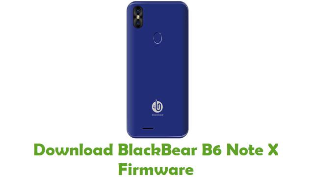 Download BlackBear B6 Note X Stock ROM