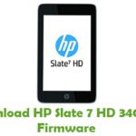 HP Slate 7 HD 3404EX Firmware