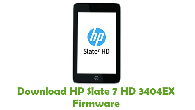 Download HP Slate 7 HD 3404EX Firmware