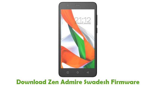 Download Zen Admire Swadesh Stock ROM