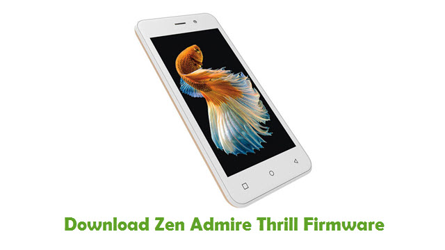 Zen Admire Thrill Stock ROM