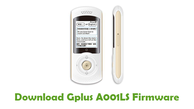 Download Gplus A001LS Stock ROM
