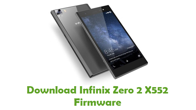 Download Infinix Zero 2 X552 Stock ROM
