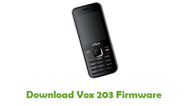 Download Vox 203 Stock ROM
