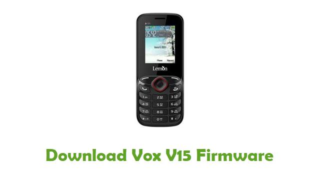 Download Vox V15 Stock ROM