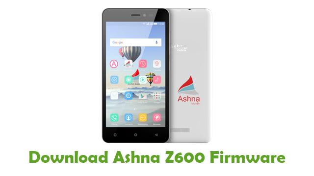 Download Ashna Z600 Stock ROM