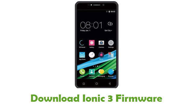Download Ionic 3 Stock ROM
