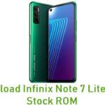 Infinix Note 7 Lite X656 Stock ROM