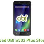 OBI S503 Plus Stock ROM