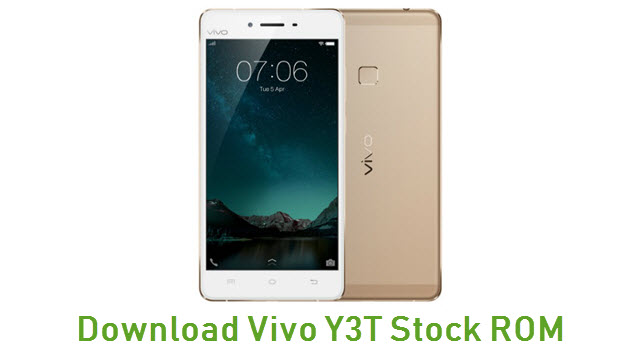 Download Vivo Y3T Stock ROM