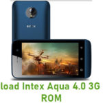 Intex Aqua 4.0 3G Stock ROM